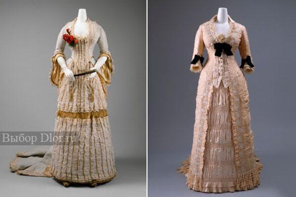 Старинные платья - фото