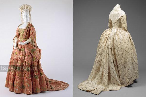 Старинные модели платьев