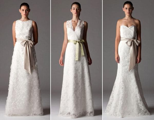 Платья украшенные цветной лентой