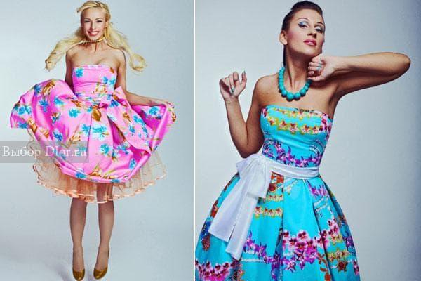 Яркие цветастые платья