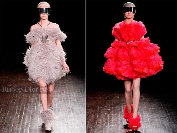 Меховые платья от Alexander McQueen