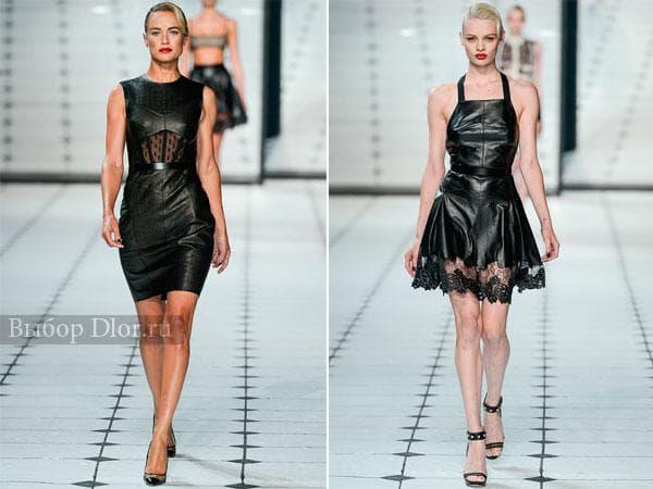Короткие кожаные платья от Jason Wu