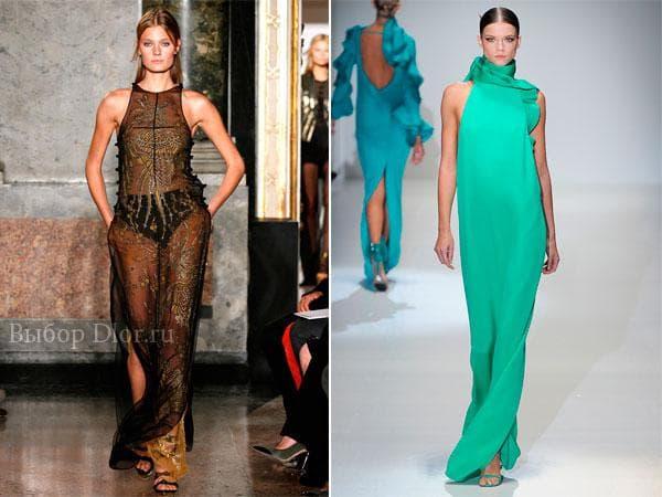 Элегантные платья в пол от Emilio Pucci и Gucci