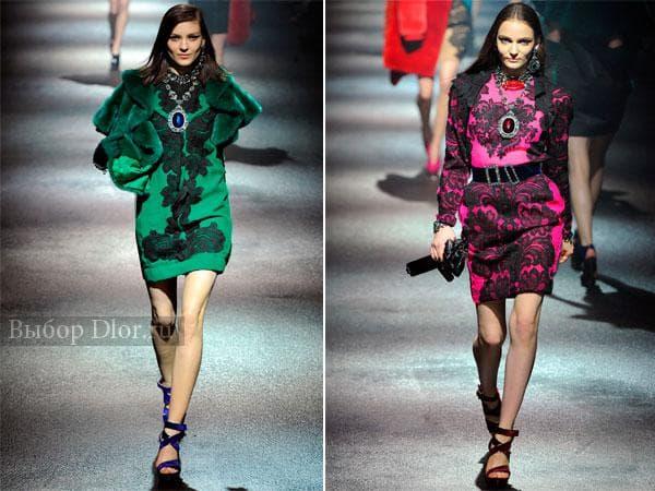 Модные зимние платья от Lanvin