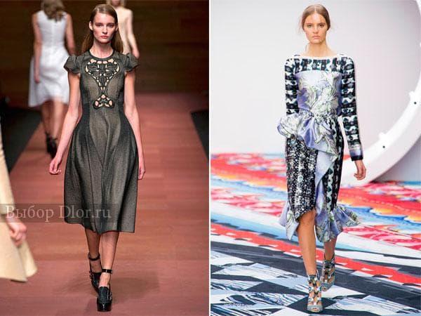 Платья средней длины с баской от Carven и Peter Pilotto