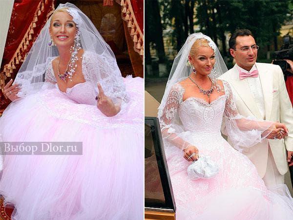 Пышное свадебное платье Анастасии Волочковой