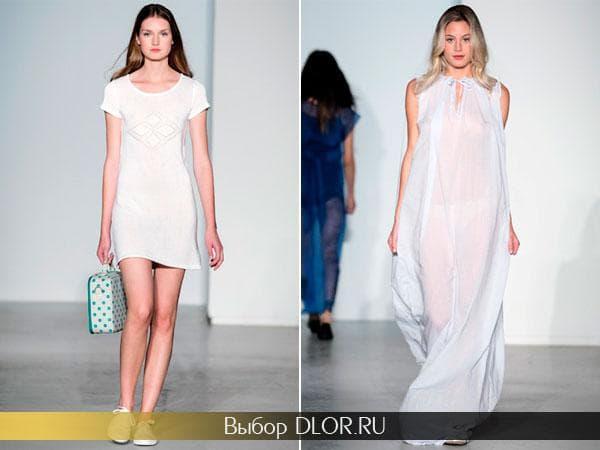 Белые летние платья для пляжа от Agnès b