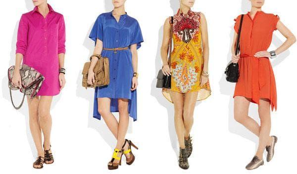 Стильные летние платья-рубашка