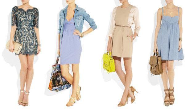 Короткие платья с завышенной талией для офиса