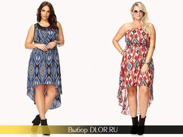 Повседневные летние платья для полных девушек