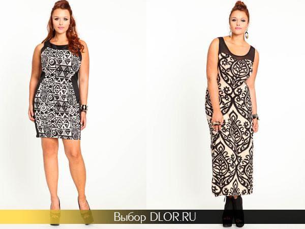 Летние платья и сарафаны с черно-белым цветочным принтом