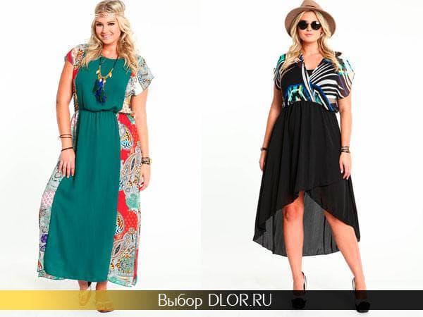 Модные платья для пышных дам