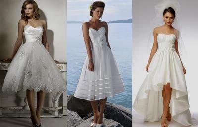 Cвадебные короткие платья