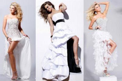 Свадебные платья короткие со шлейфом