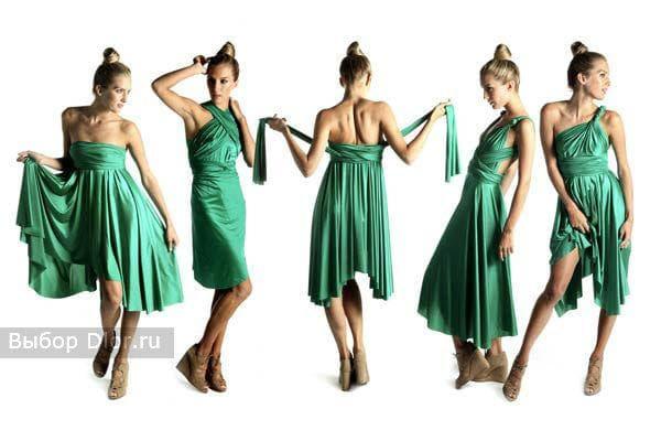 Варианты завязывания платья-трансформера