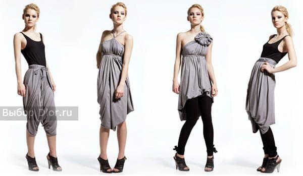 Стильное платье-трансформер в светлых тонах