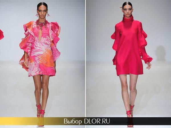 Розовые платья-трапеция от  Gucci