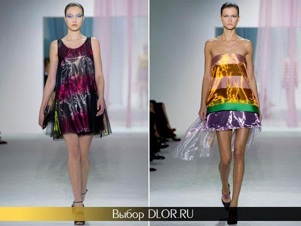 Легкие блестящие сарафаны от Christian Dior