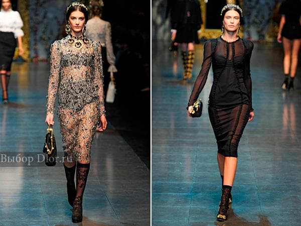 Фото стильных нарядов от Dolce & Gabbana