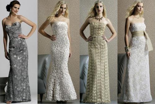 Вязаные вечерние платья