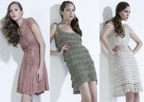 Фото вязаных платьев