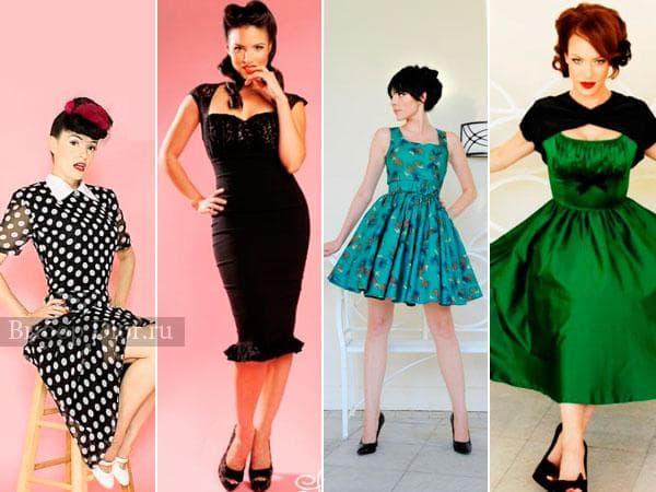 Фото стильных ретро платьев