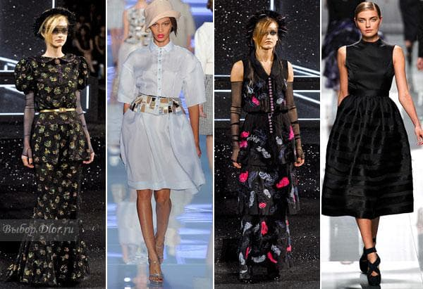 Платья от Chanel и Christian Dior