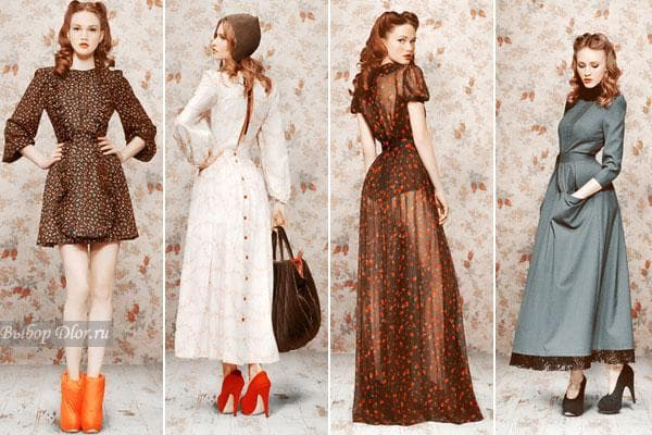 Винтажные платья в стиле 70-х
