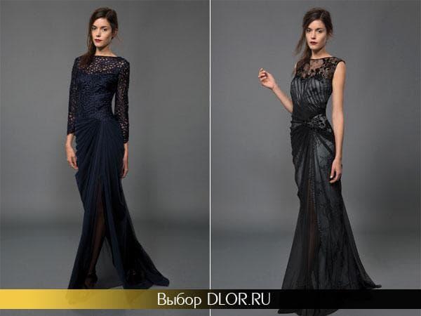 Кружевные платья-русалка на выпускной вечер