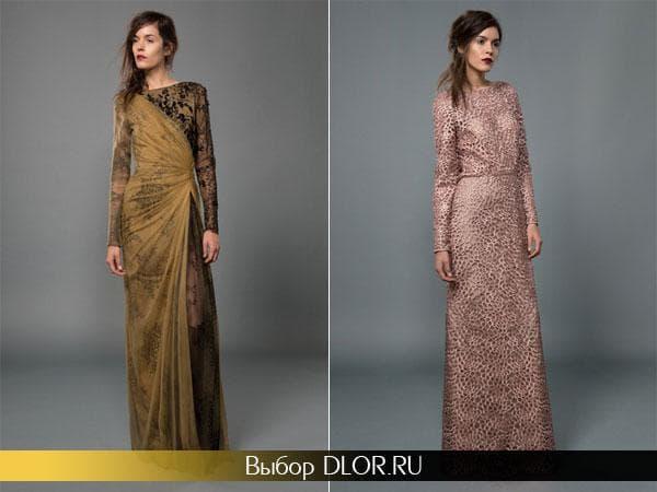 Платье болотного цвета и грязно-розового