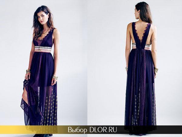 Фото модного платья с завышенной талией