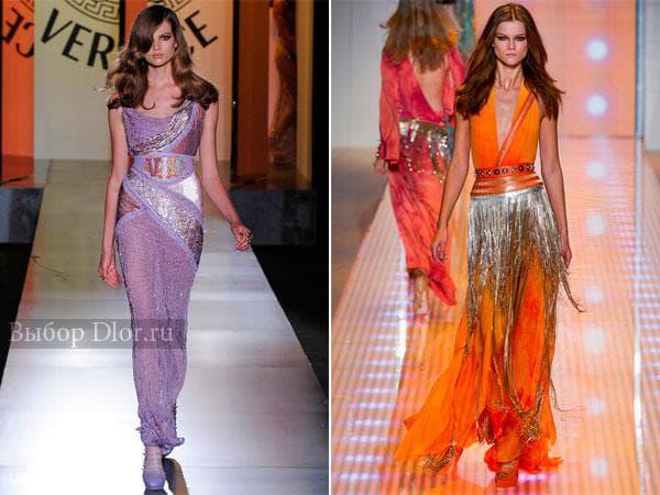 Длинные платья от Versace