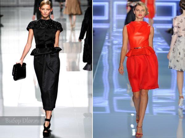 Строгие платья от Christian Dior