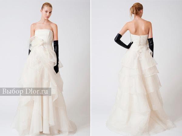 Фото классической модели свадебного платья