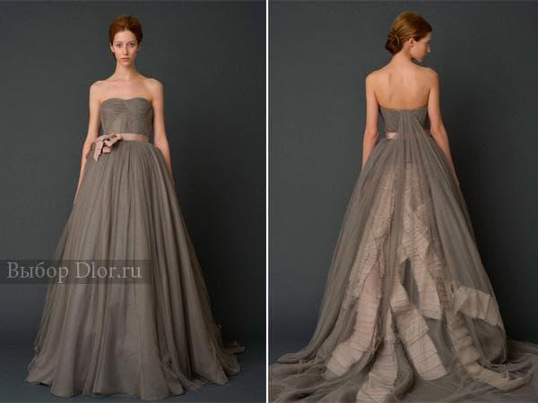 Фото серого платья от Веры Вонг