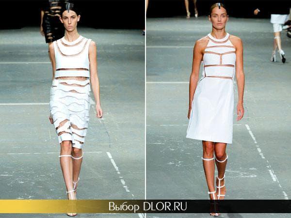 Фото креативных белых платьев от Александра Ванга