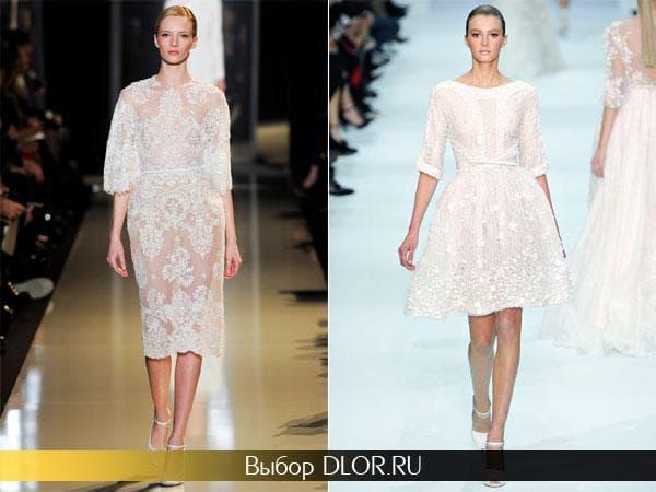 Короткие свадебные платья от Elie Saab