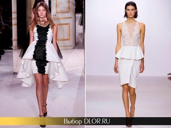 Платье с баской и платье короткое спереди и длинное сзади