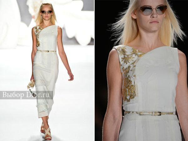 Платье с золотистой вышивкой