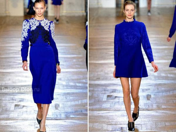 Васильковые платья от Stella McCartney